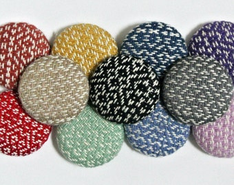 "1.5"" Button Handwoven cotton fabric for sewing"