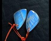 Moon Stone Gemstone Earring Bead,22x12x4mm,3.5g