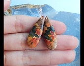 Multi-Color Picasso Jasper Earring Bead,29x10x5mm,4.6g