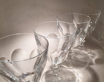 5 Crystal Water Goblets - Rambouillet Pattern