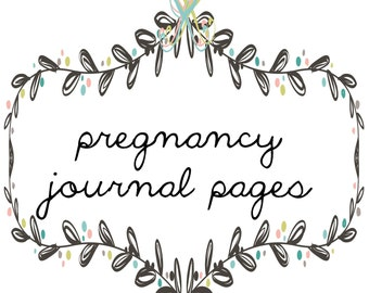 pregnancy journal pages add-on page