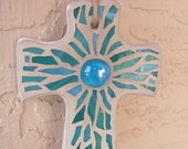Cross Ornament Hanging Cross Mosaic Cross Stained Glass Mosaic Art Wall Cross   Mosaic Ornament Unique Cross Handmade Cross for Wall