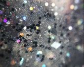 Black Glitter Holo Handmade Nail Polish (Girl's Night)