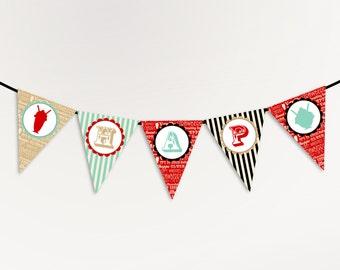 Ice Cream Party Banner - Happy Birthday Banner