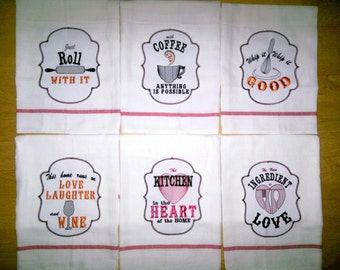 Kitchen Quotes Applique Pack Price   6 Towel Embroidery Designs   Machine Embroidery  Designs   4x4