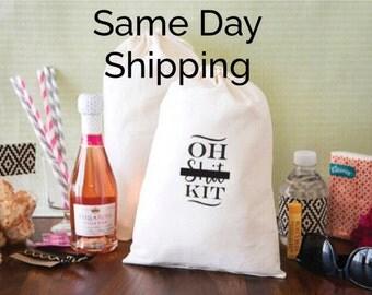 Oh Sh*t Kit Bags - Hangover Kit Bags - Mature content - Bachelorette Party Favors - Bachelorette Oh Shit Kits - Bachelorette Hangover Kits