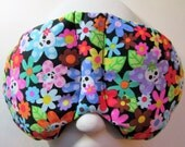 Herbal Hot/Cold Therapy Sleep Mask with adjustable and removable strap Colorful Flowers with Skulls