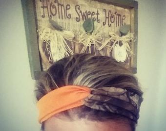 Mossy oak turban headband