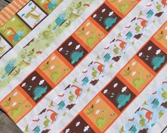 Baby Boy Complete Quilt KIT Dinosaurs Riley Blake Fabrics