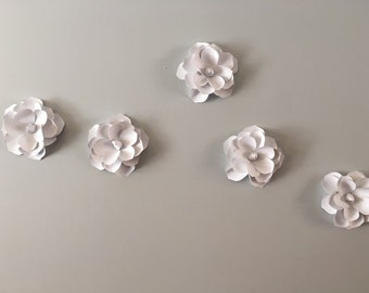 3D Wall Magnolia flowers  - White Magnilia flower  decal, wall decoration