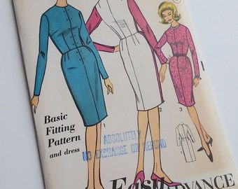 "Vintage Pattern / 34"" Bust / 1960s Fitted Dress Pattern / Sew Easy 3155"