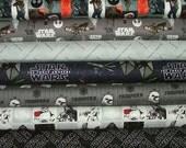 Star Wars Fat Quarter Bundle of 7 by Camelot Design Studio