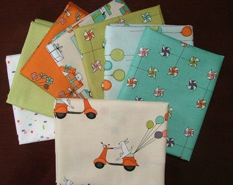 Just For Fun Fat Quarter Bundle of 8 by Marisa of Creative Thursday for Andover