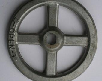 Vintage Valve-Vintage -Unique LARGE Silver Faucet Handle-Vintage Factory,Industrial Chic design ,Hardware,Steampunk Machine