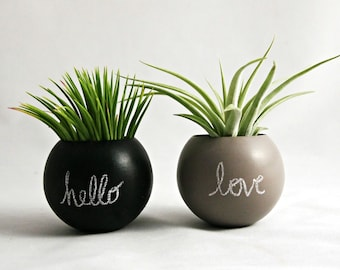 Mini Chalkboard Planter