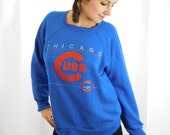 Vintage Distressed Chicago Cubs Sweatshirt