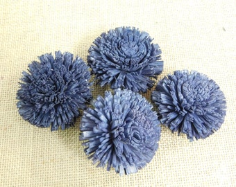 Sola mums Flowers  -- SET of 12 -- NAVY BLUE