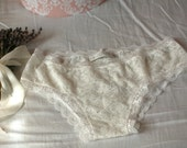 Rose Musquée panties - White french lace and cotton undies, panties comfortable yet sexy
