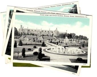 7 Vintage Elizabethtown Pennsylvania Unused Postcards Blank, Wedding Guestbook, Travel Journal, Scrapbooking, Collage Supplies