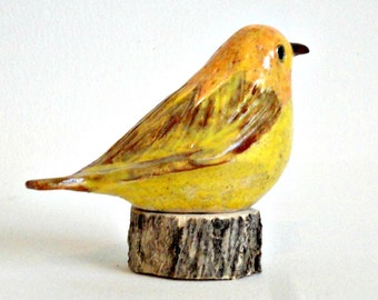 clay bird sculpture