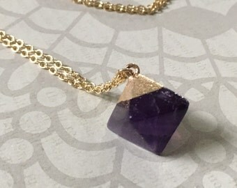 Gorgeous amethyst crystal necklace