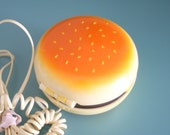 1980s HAMBURGER PHONE.....retro. food. foodie. burger. diner. rad. 80s phone. collectible. rare. awesome. urban. kitsch. telephone. vintage