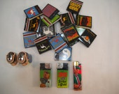 Lot of 18 Camel Cigarette Matches 1995 All New And 5 Lighters