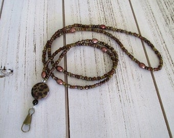 Pretty beaded lanyard for holding your embroidery scissors or security badge or company name tag