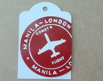 Up-Cycled London Flight Tag Set of 3