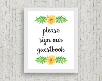 Guestbook Sign // 8x10 // Instant Download