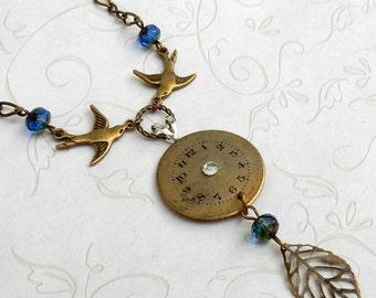 Watch Face Necklace, Watch Face Pendant, Vintage Watch
