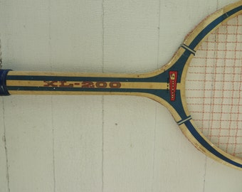 Vintage Garcia XL-200 Wood Tennis Racket and Wood Press / Vintage Wood Tennis Racquet / Garcia Tennis Racket / Wall Decor