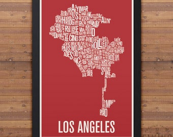LOS ANGELES Neighborhood Map Print