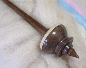 Tibetan Support Spindle in Figured Pennsylvania Walnut, Curly Maple & Ipe