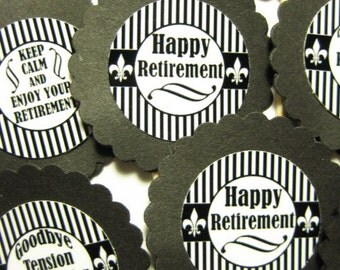 15 Retirement Party Picks - Cupcake Toppers - Toothpicks - Food Picks - FP652