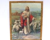 RELIGIOUS JESUS PRINT/ Jesus with the Lambs