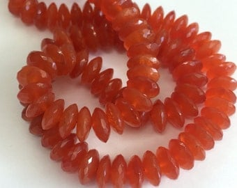Carnelian Faceted German Cut-10mm
