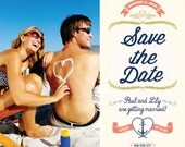 beach save the date, Save the date postcards, Save the date cards, Save the date magnets, wedding save the date invitations, Save the dates
