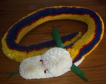 RARE Vintage 1960s Snake made from Beautiful colorful plastic - Carnival and Fair Prize Novelty Snake