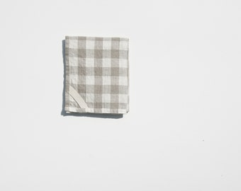 Linen Dish Towel in Gingham
