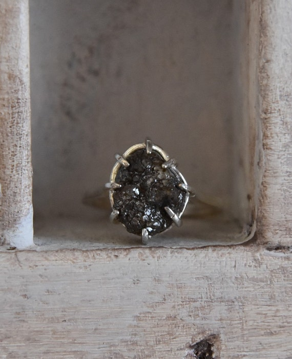 Raw Rough Diamond specimen - Promise -one of a kind Christmas present Engagement ring