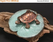 Spring Sale 10% Western Painted Turtle on Lily Pad