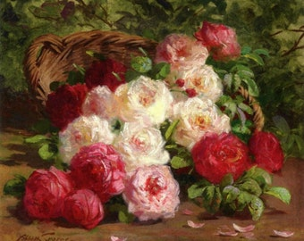 Still Life with Roses - Cross stitch pattern pdf format