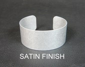 Aluminum Cuff Bracelet Blanks, 1 inch x 6 inch, Satin finish perfect for alcohol inks, decoupage, polymer clay, embellishment