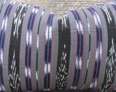 Guatemalan Woven Ikat Stripe Pillow Cover - Throw Pillow - Black Multi