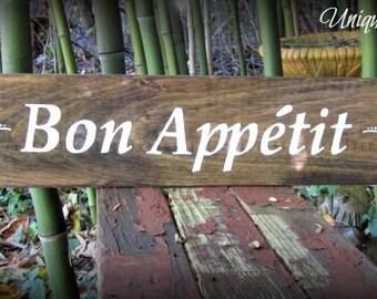 Bon Appetit Sign~Color choice avaialable~Custom Colors