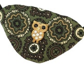 Eye Patch Olive Owl Victorian Steampunk Gothic Pirate Fantasy Fortune Teller Green Gold