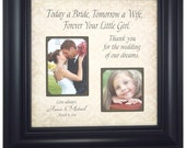 Personalized Father of the Bride Picture Frame Gift Father Daughter Dad Daddy Parents of the Bride Gift, Today a Bride 16 X 16