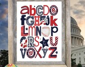 WASHINGTON NATIONALS baseball ABC Nursery Art Print