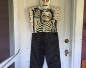 Skeleton Halloween Costume Ben Cooper Wall Art Black White Red
